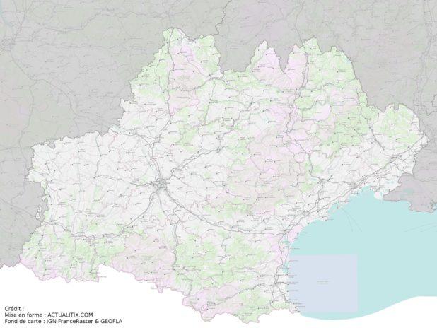 Carte de l'Occitanie (région)