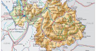 Carte de la Savoie