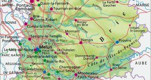Carte de la Seine-et-Marne
