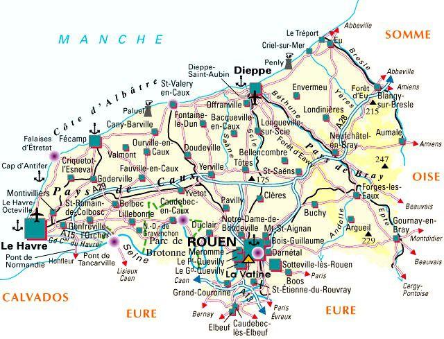 Carte de la Seine-Maritime