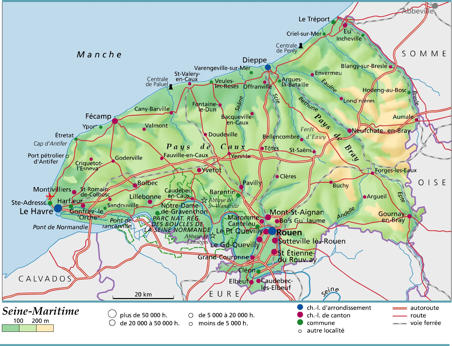 Carte de la Seine Maritime   Seine Maritime carte des villes