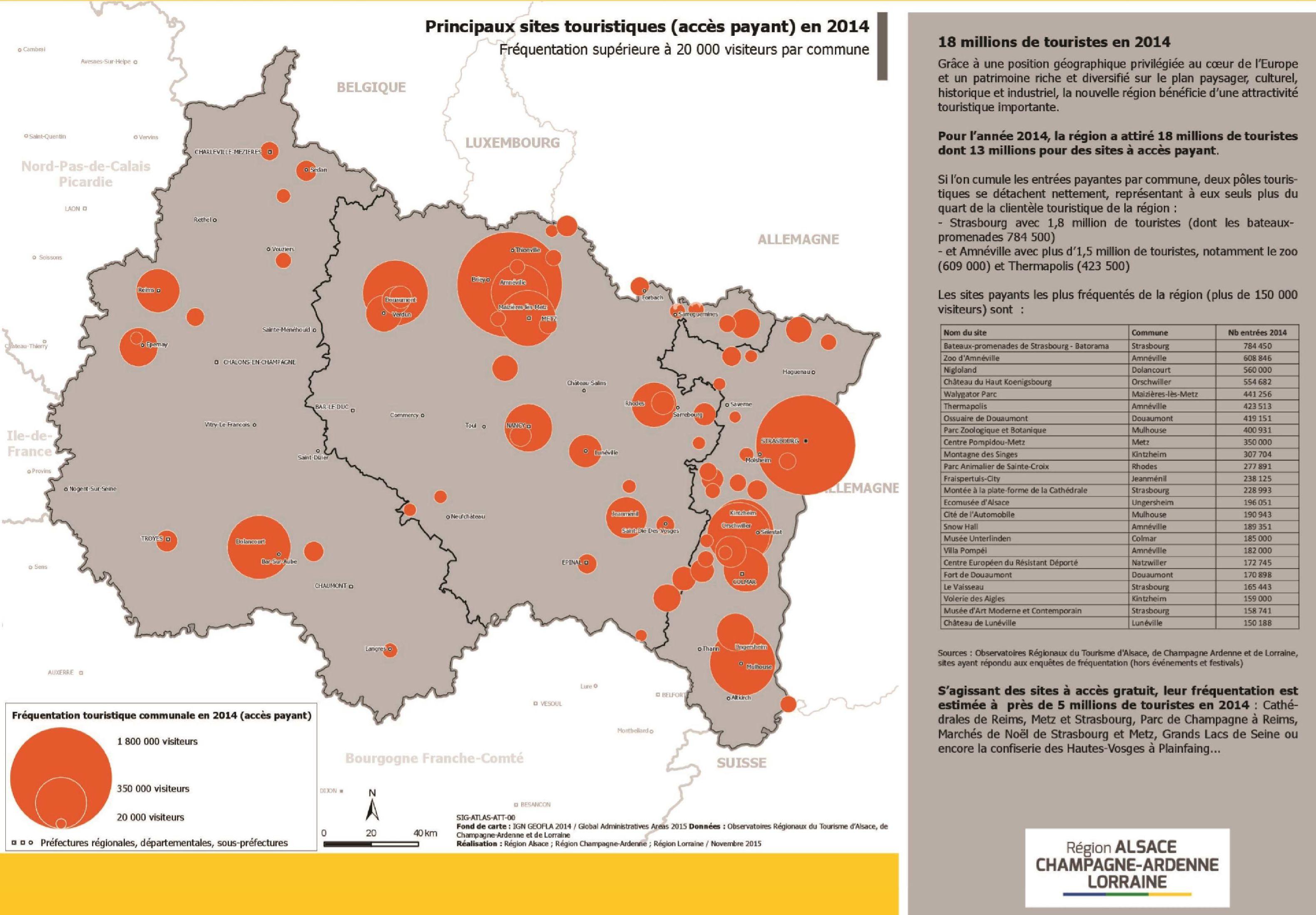 Carte du grand est grand est carte des villes for Site touristique france