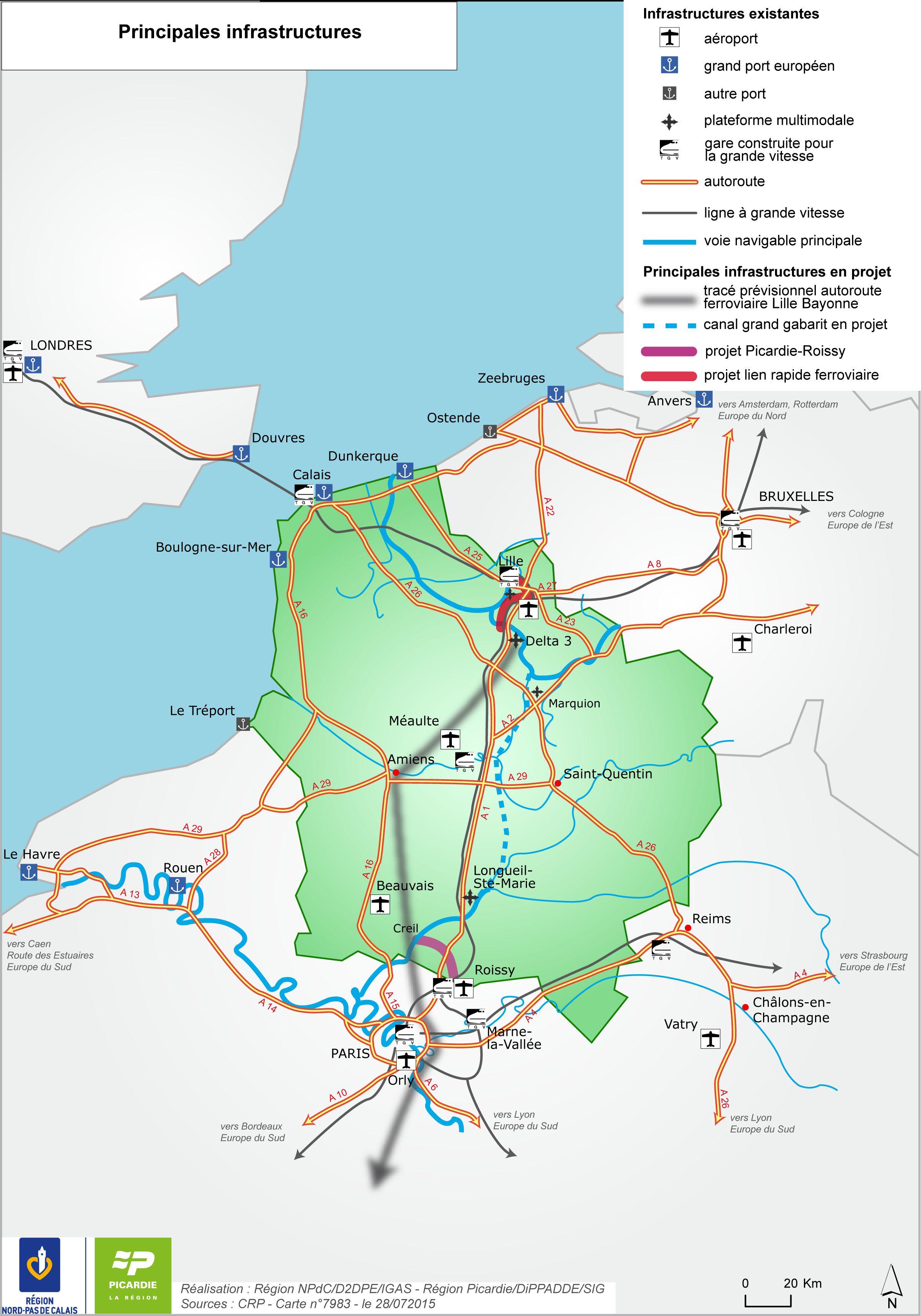 Carte des transports Hauts-de-France