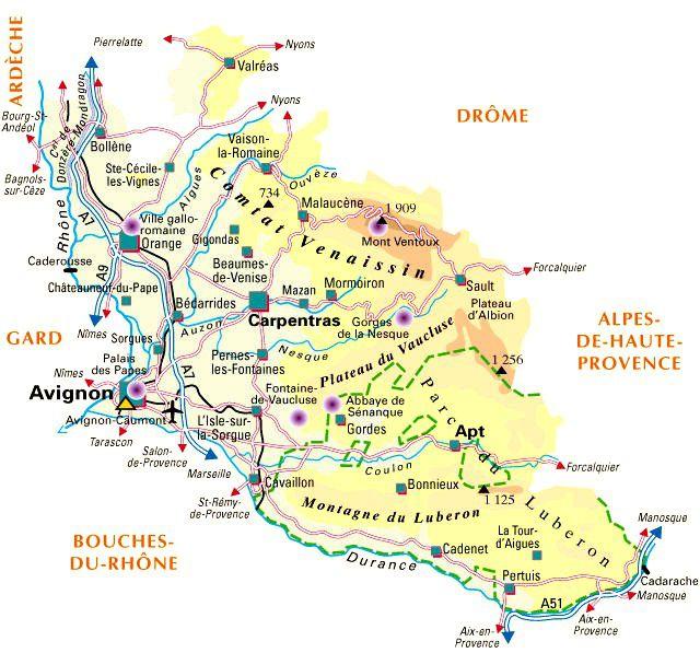 Carte du Vaucluse - Politique