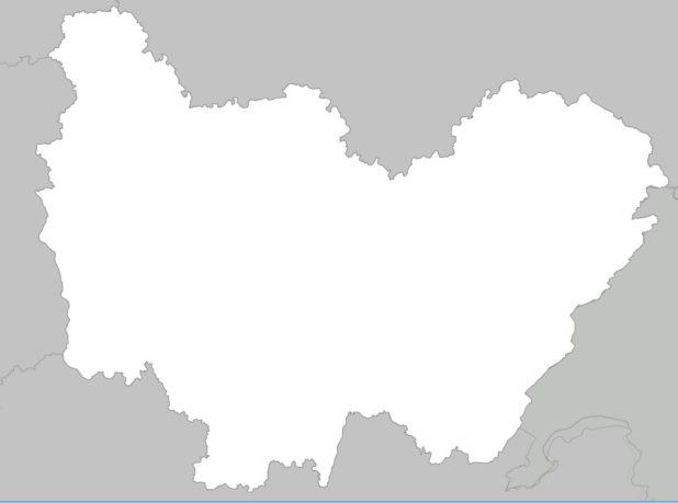 Carte vierge de Bourgogne-Franche-Comté