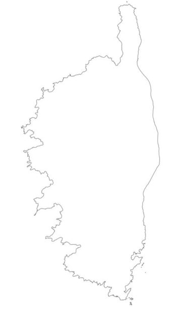 Carte vierge de la Corse