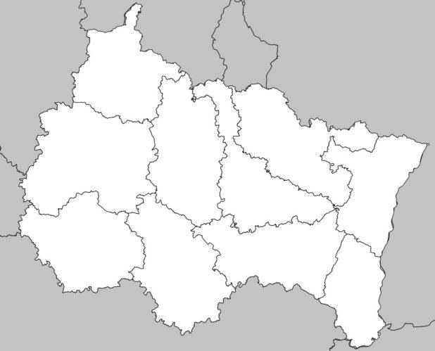 Carte vierge avec départements du Grand Est