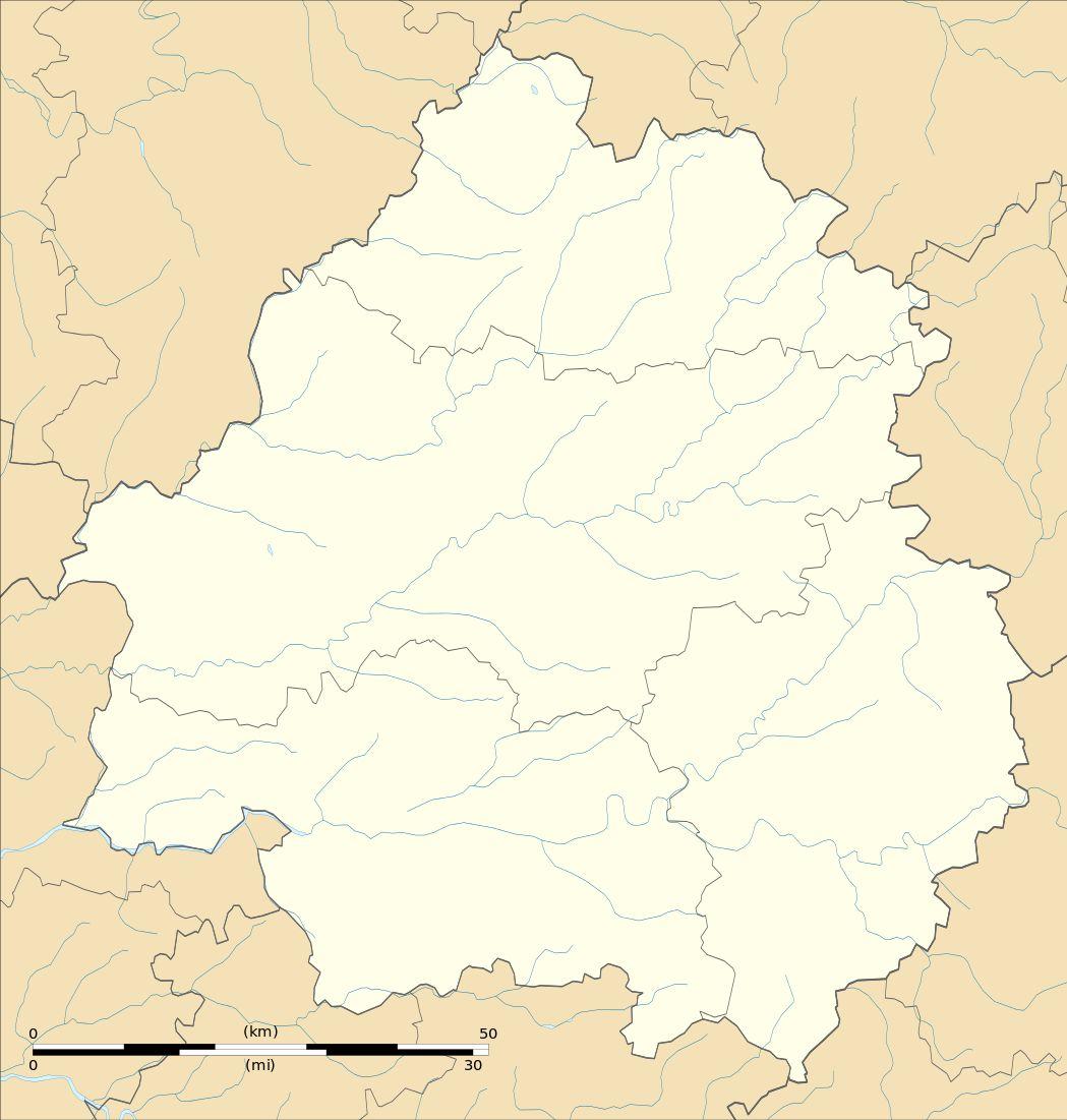 Carte vierge de la Dordogne
