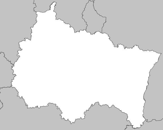 Carte vierge du Grand Est