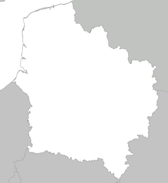 Carte vierge des Hauts-de-France