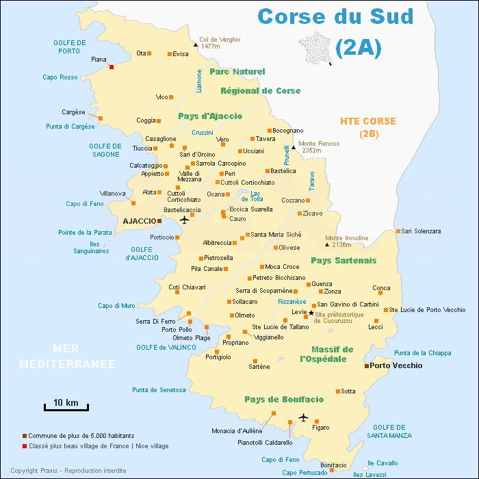 carte-de-corse-du-sud - Photo