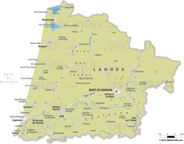 carte des landes avec villes 25 Nouveau Carte De France Avec Village