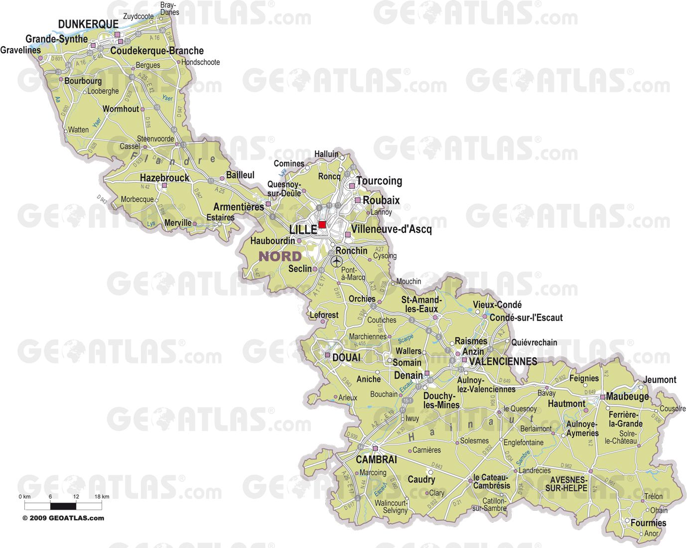 Plan De La Ville De Somain Nord