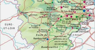 Carte des Yvelines