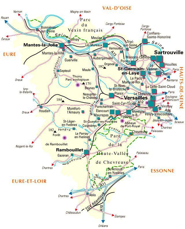 Carte des Yvelines - Politique