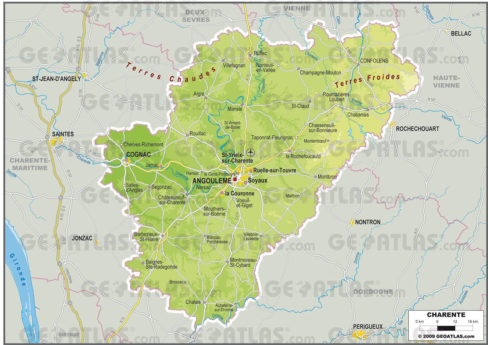 Charente carte