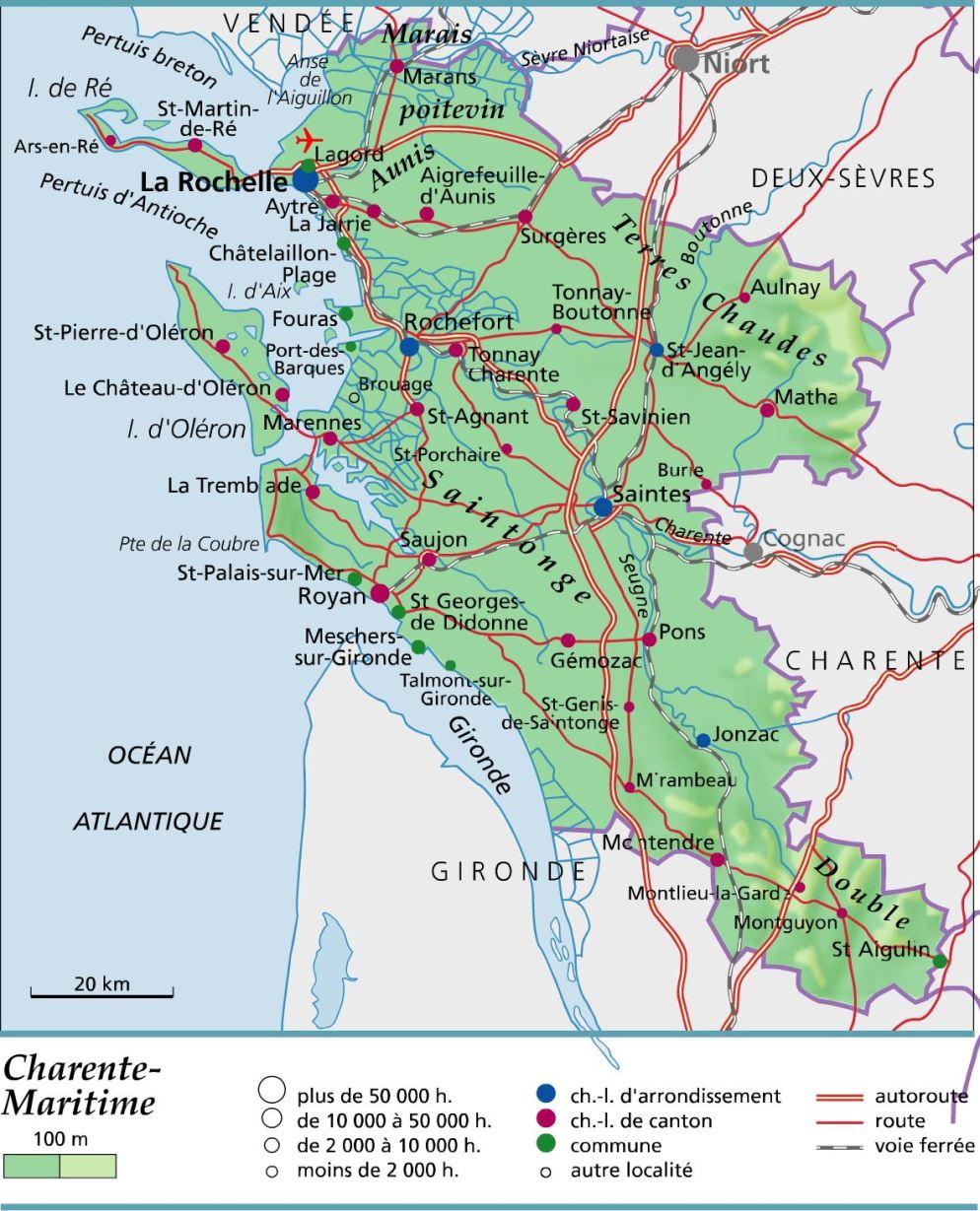 Charente-Maritime carte