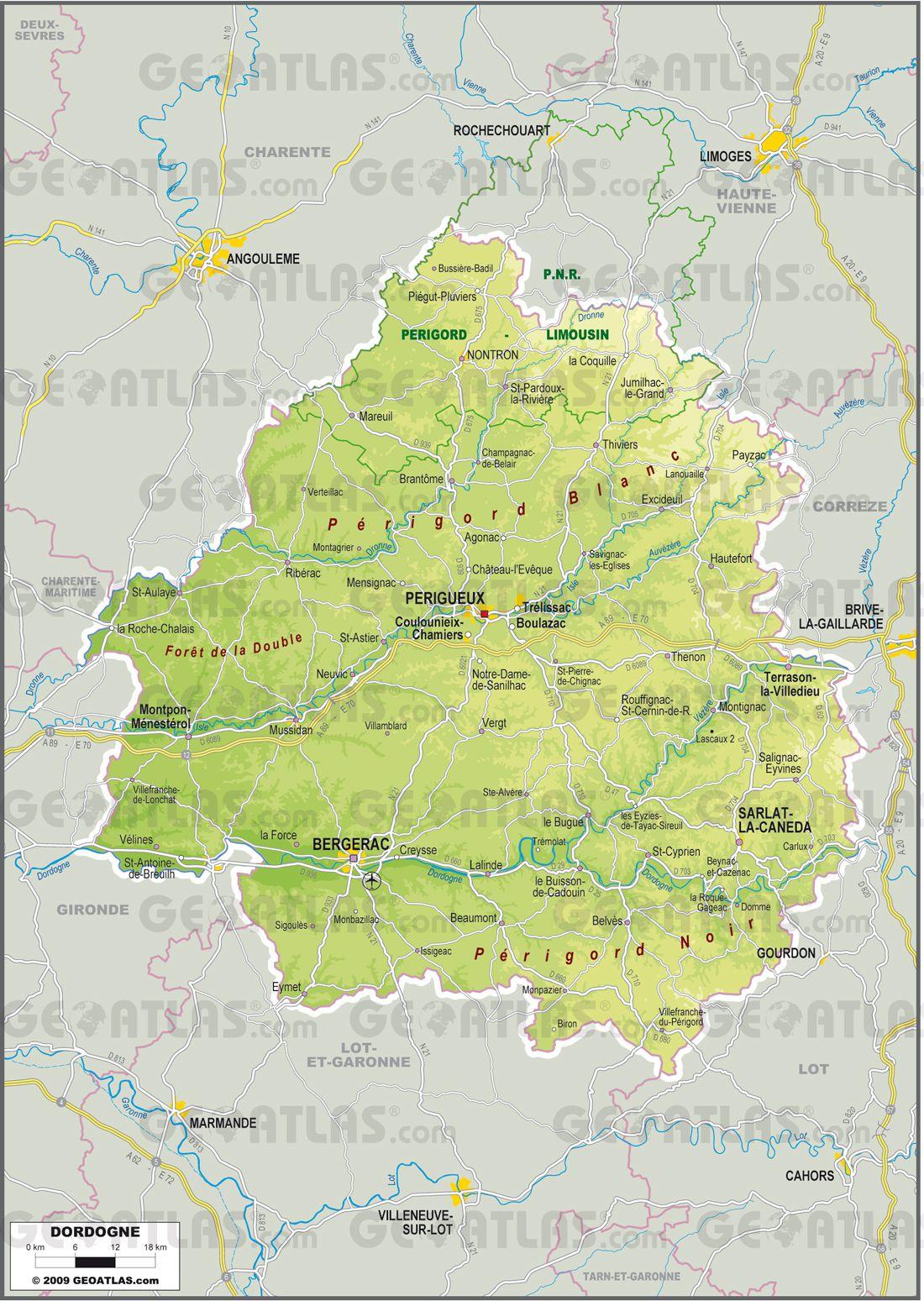 Dordogne carte