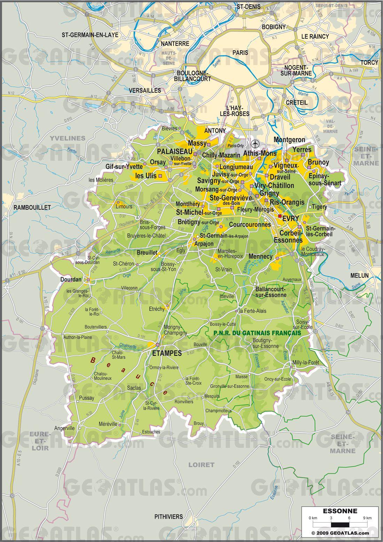 Essonne carte