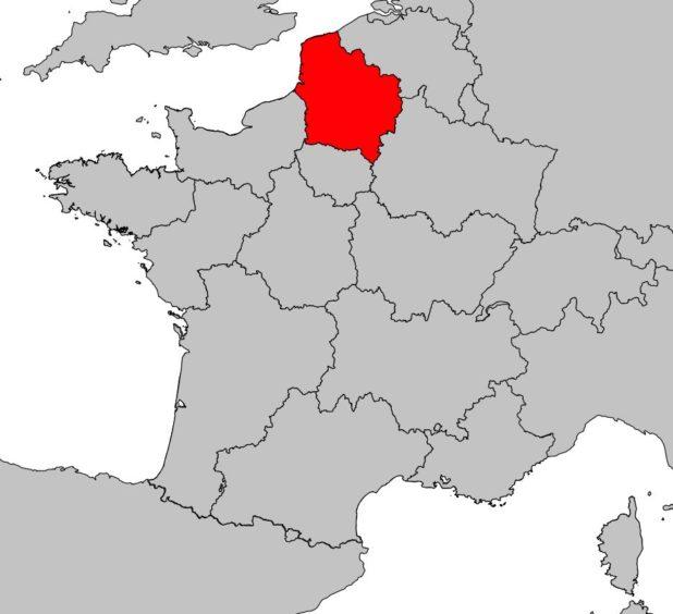 Hauts-de-France sur une carte de France
