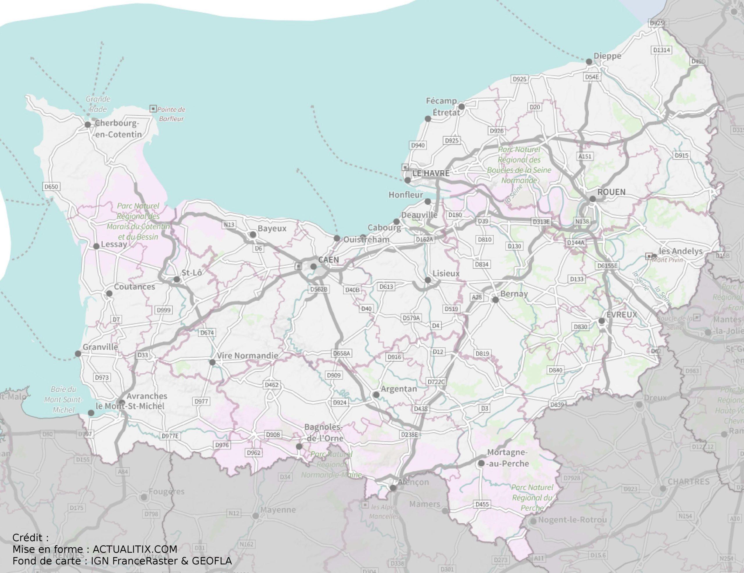 Carte De La Normandie Plusieurs Cartes De La Region Relief Villes