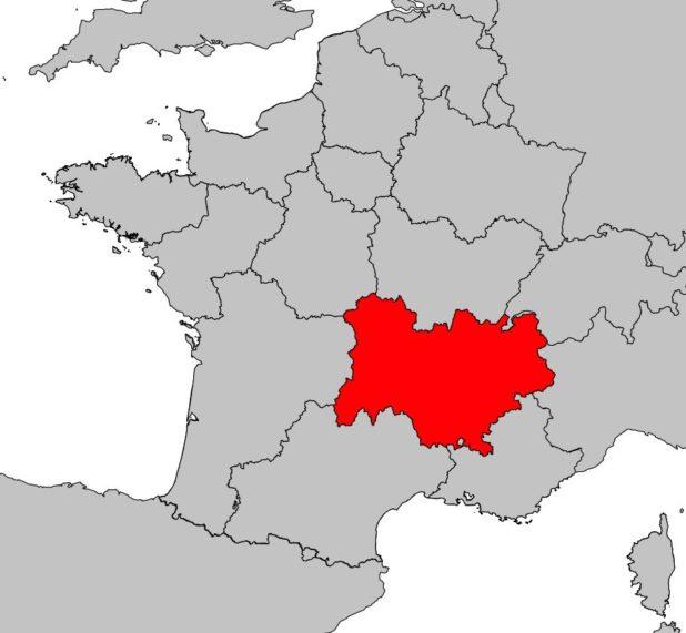 Auvergne Rhône-Alpes carte de France