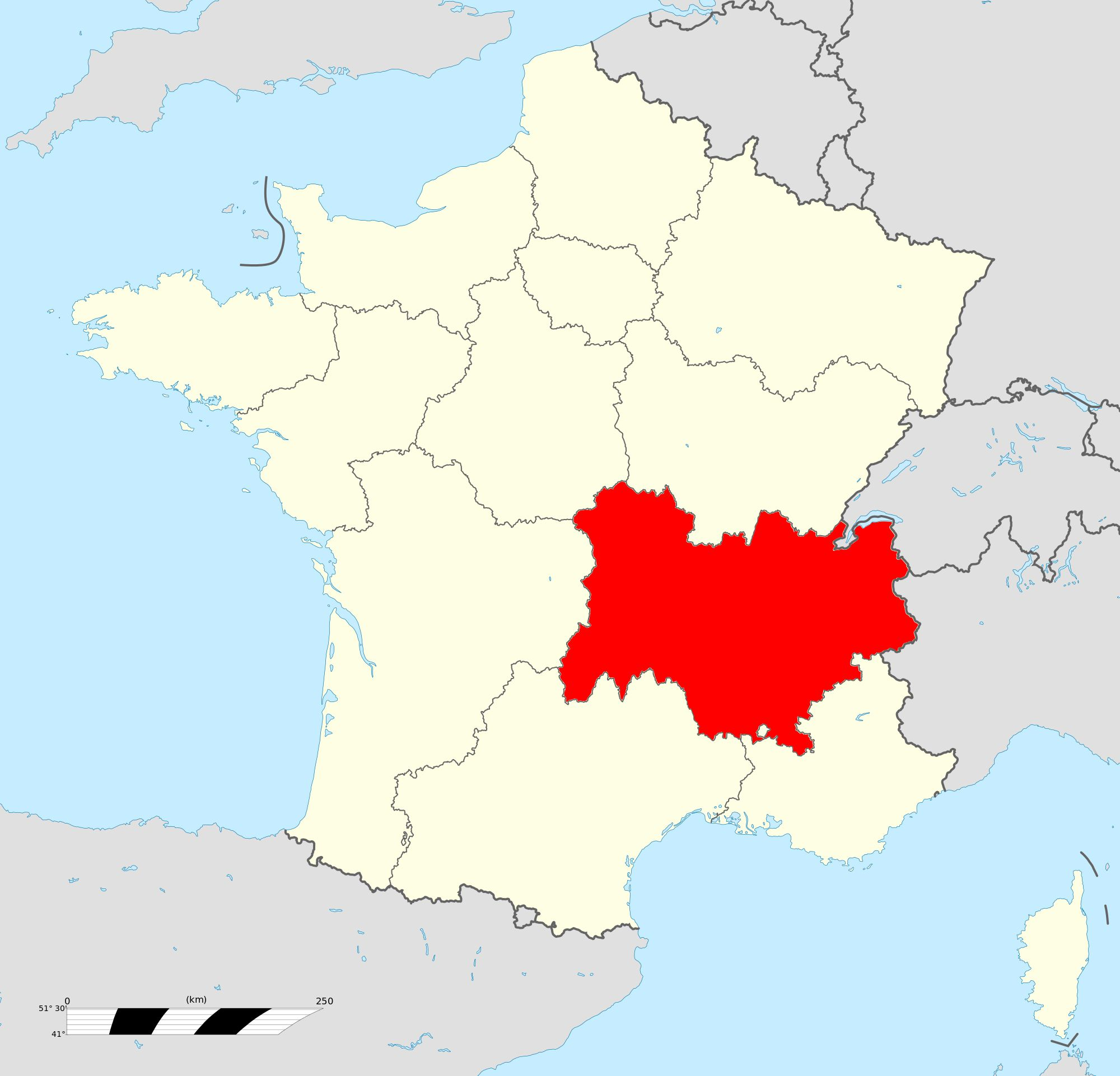 Où se trouve l'Auvergne-Rhône-Alpes