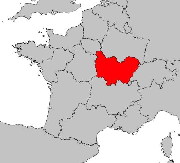 Bourgogne-Franche-Comté carte France
