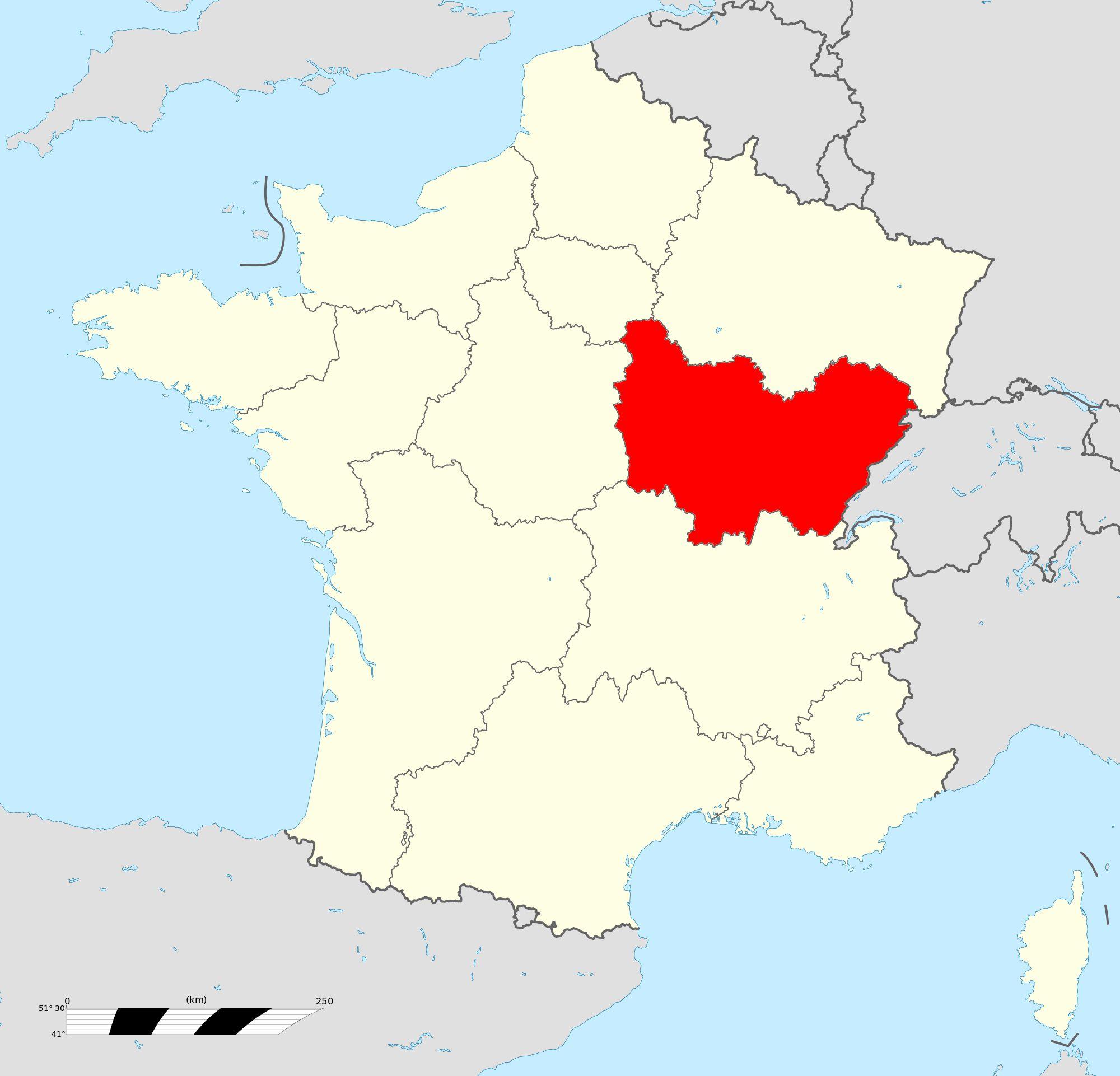 Où se trouve la Bourgogne-Franche-Comté