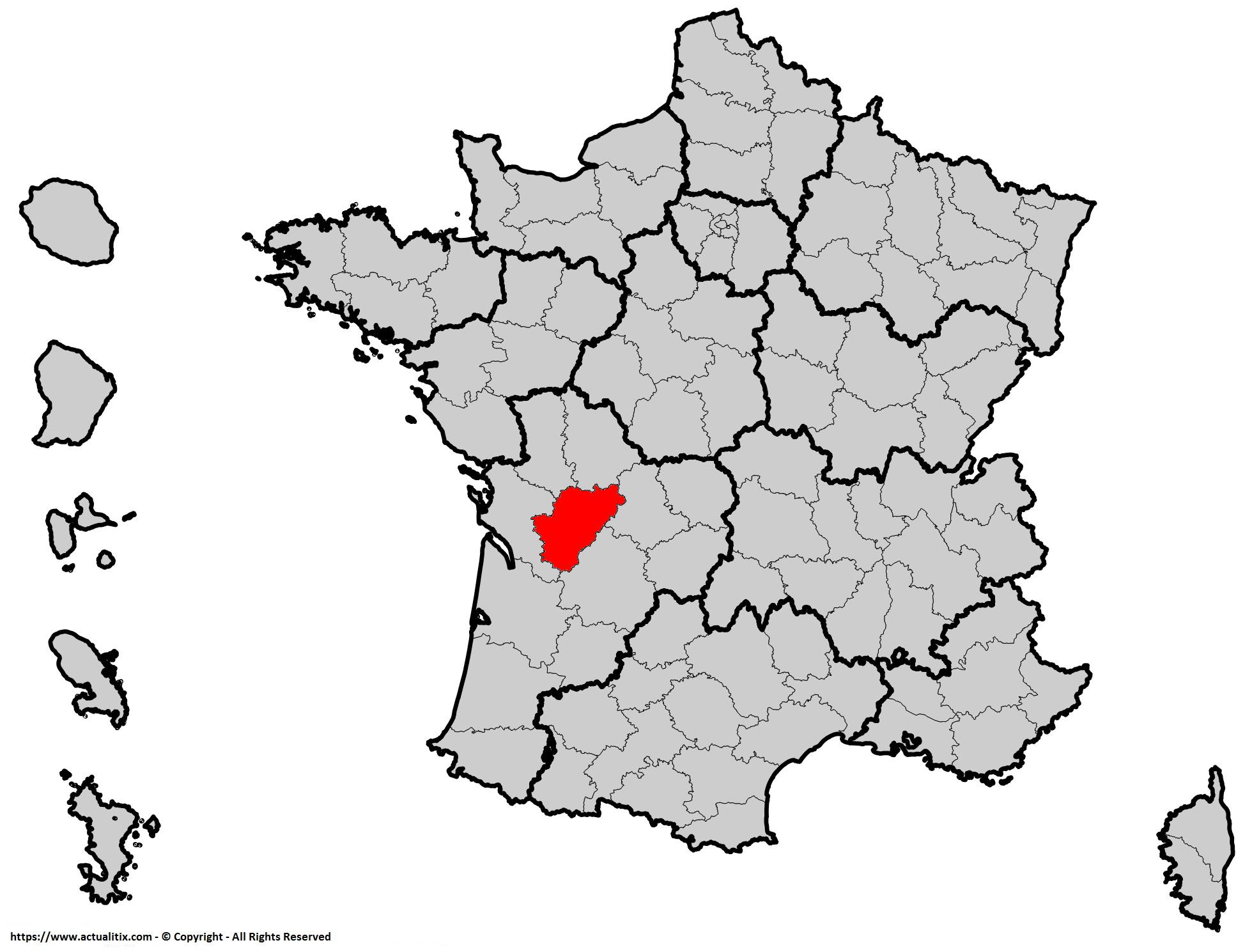 Où se trouve la Charente en France ? Département 16