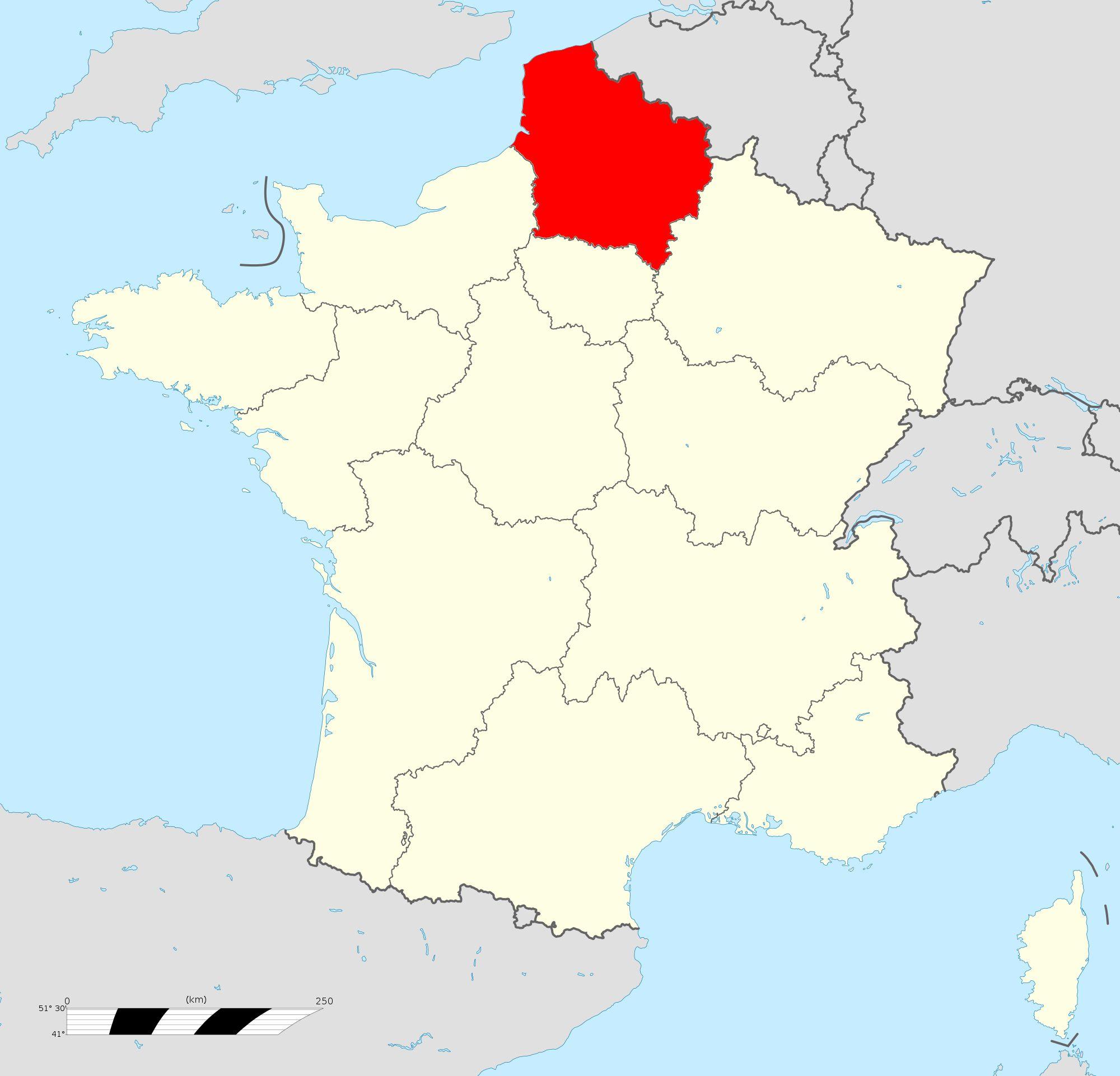Où se trouve la région Hauts-de-France ?