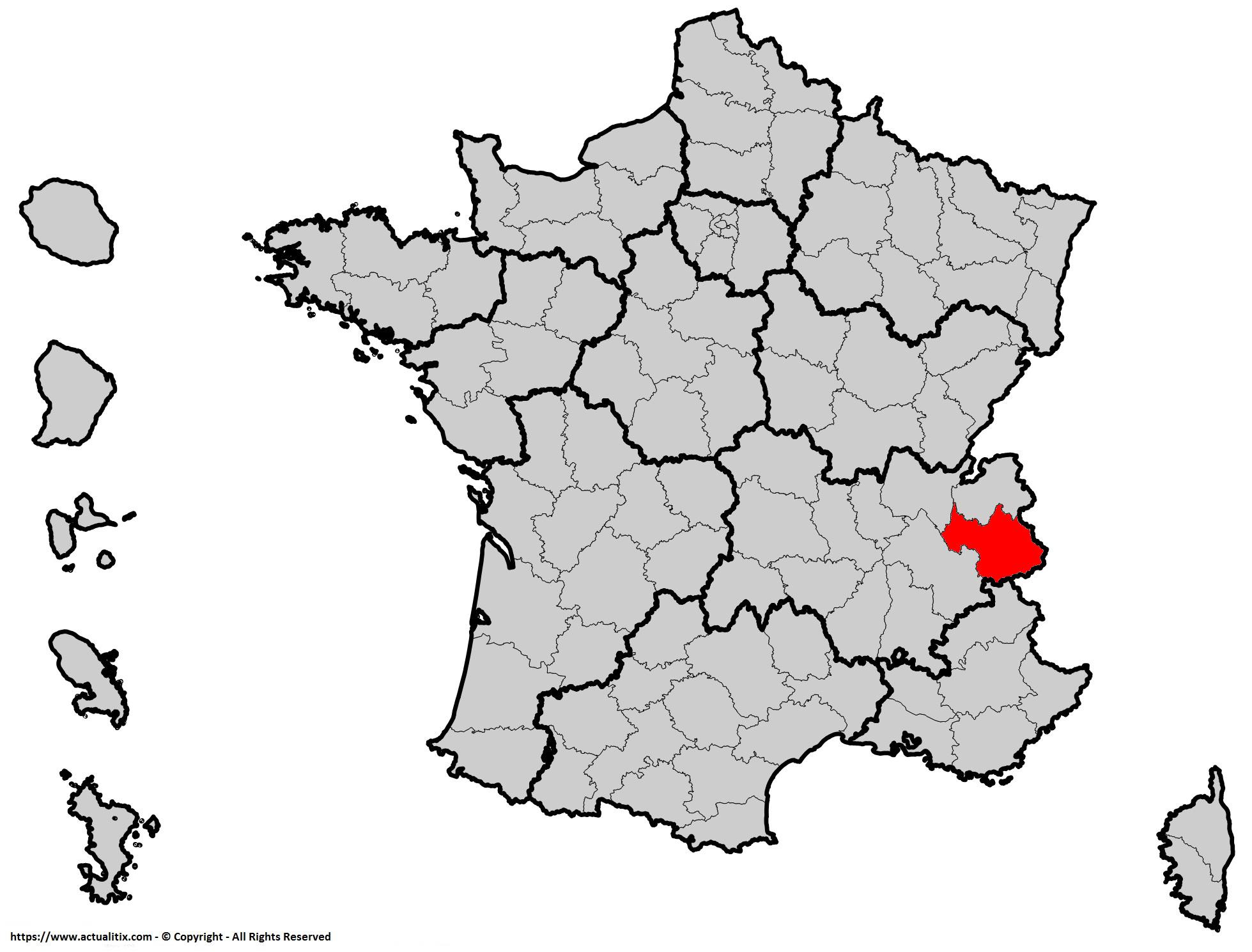 Où se trouve la Savoie (département 73) en France ?