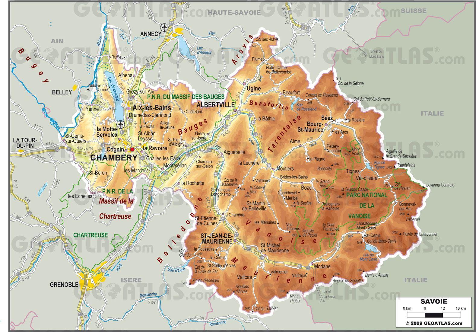 Savoie carte