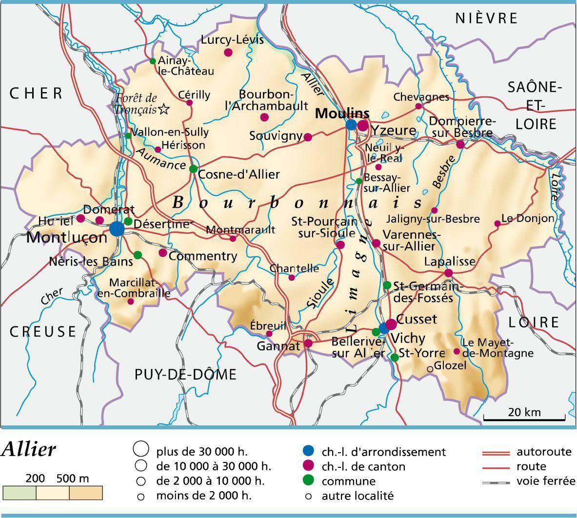 Allier carte