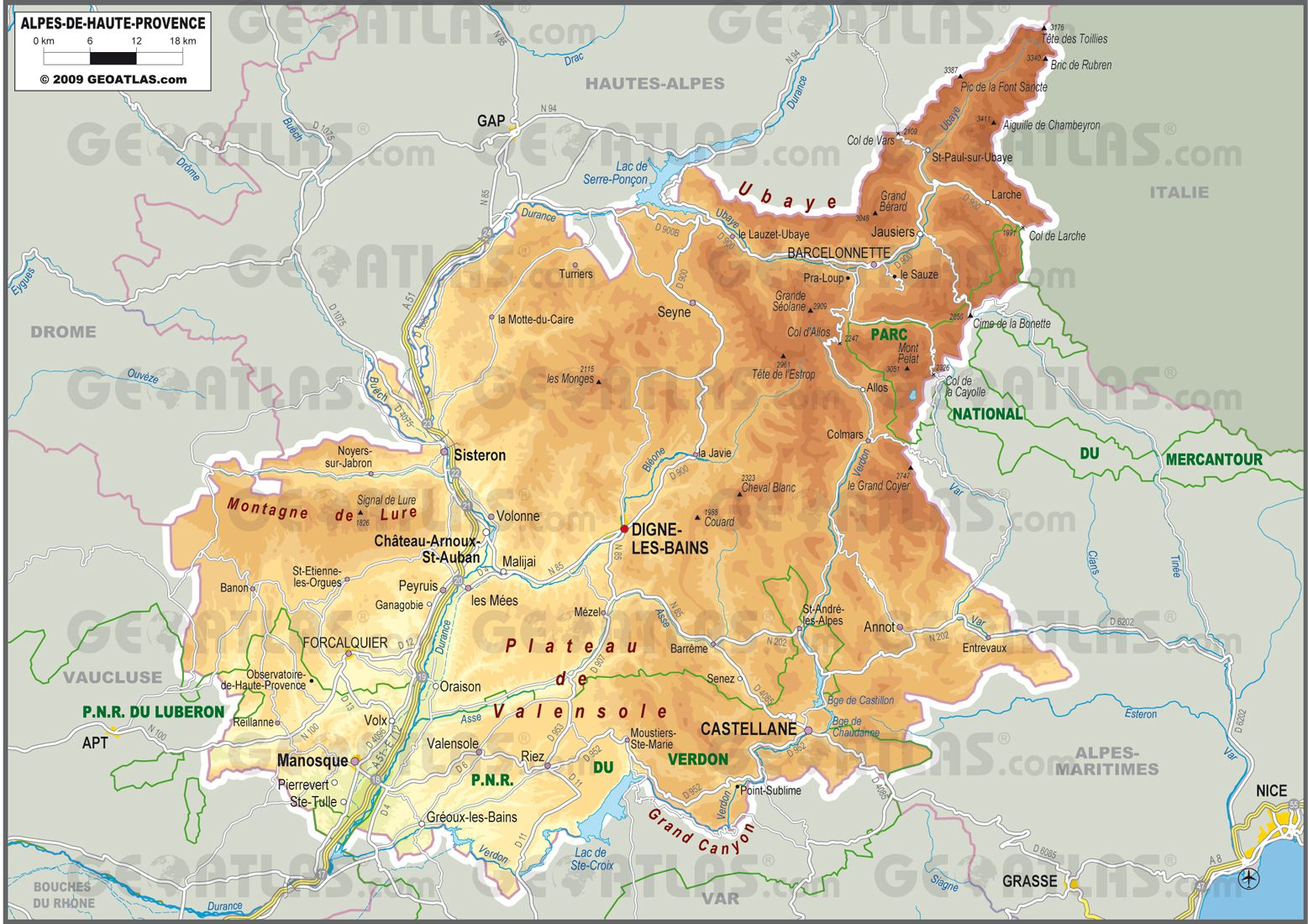 Alpes-de-Haute-Provence carte