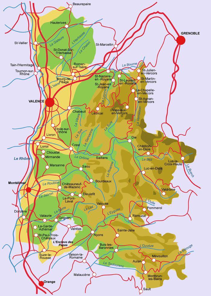Autre carte de la Drôme