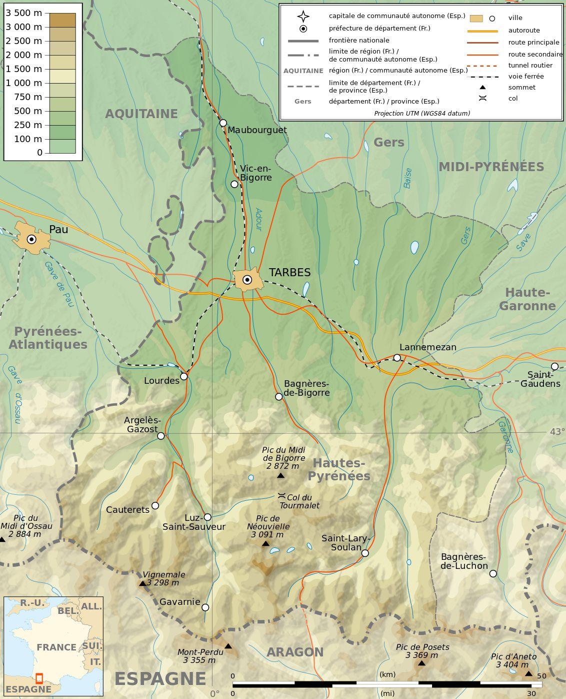 Autre carte des Pyrénées-Orientales