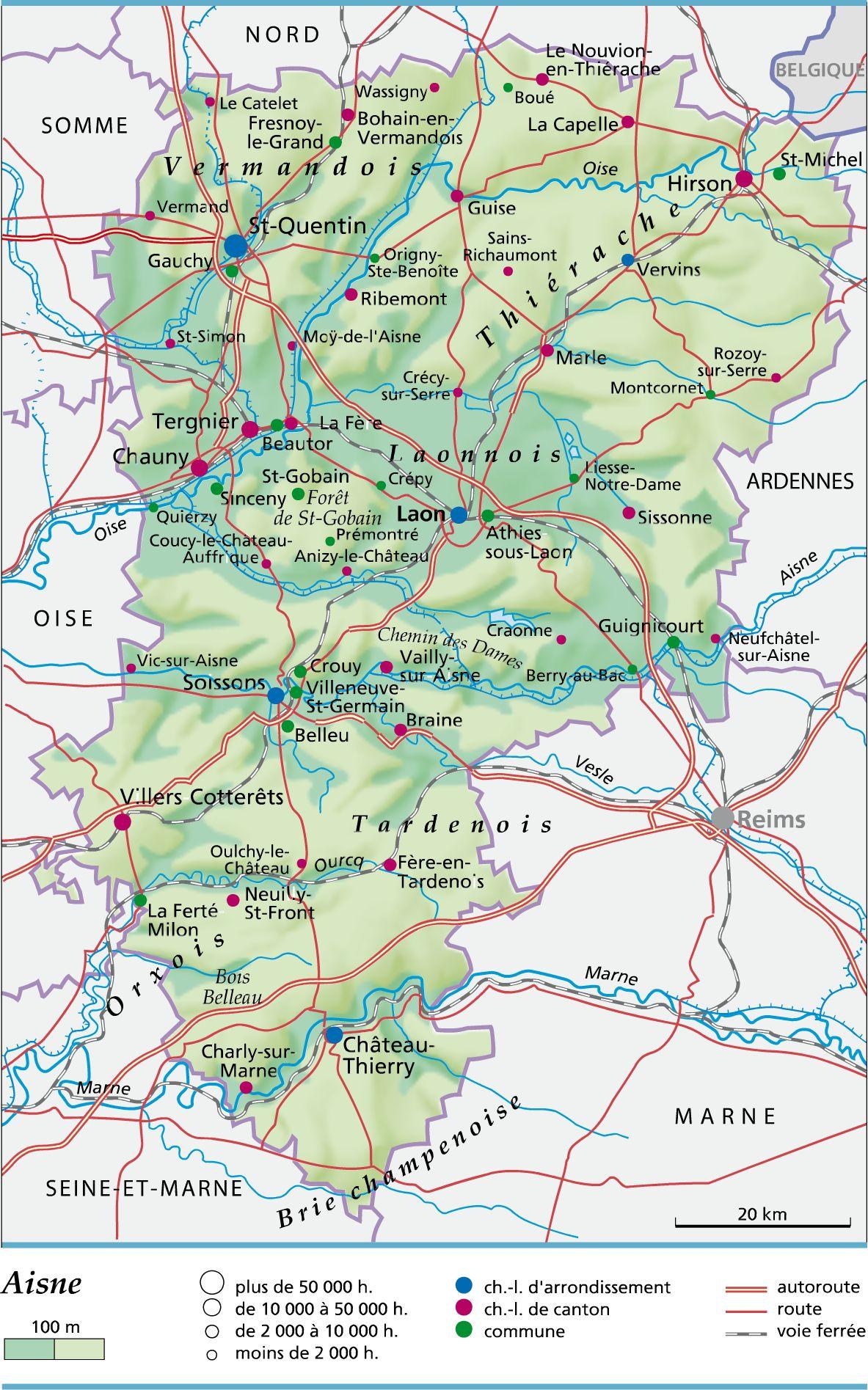 Carte de l'Aisne
