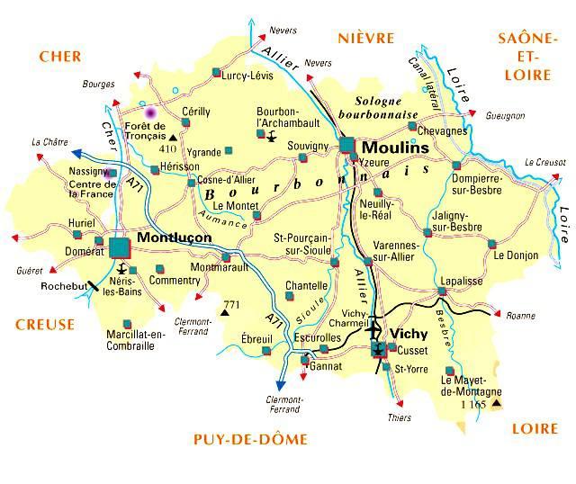 Carte de l'Allier - Politique