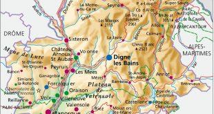 Carte des Alpes-de-Haute-Provence