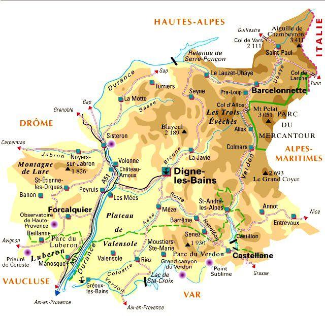 Carte Alpes-de-Haute-Provence - Politique