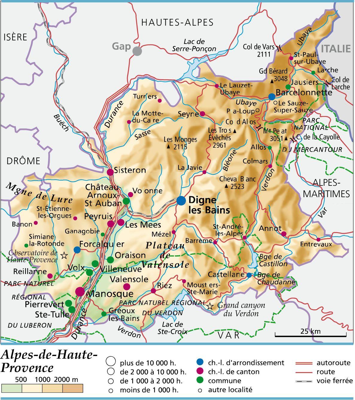 carte departement 04 - Image