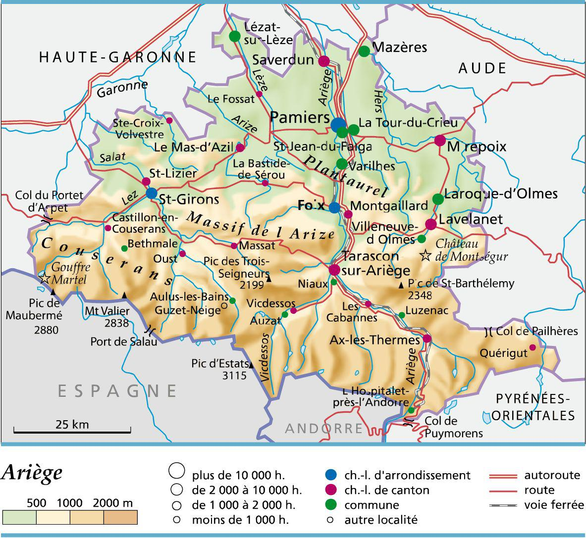 ariege carte routiere - Photo