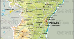 Carte du Bas-Rhin