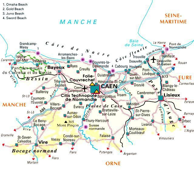 Carte du Calvados - Politique