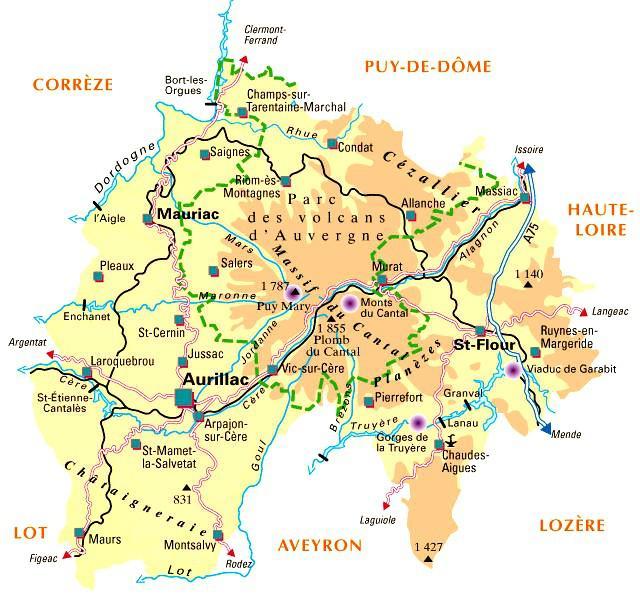 Carte du Cantal - Politique