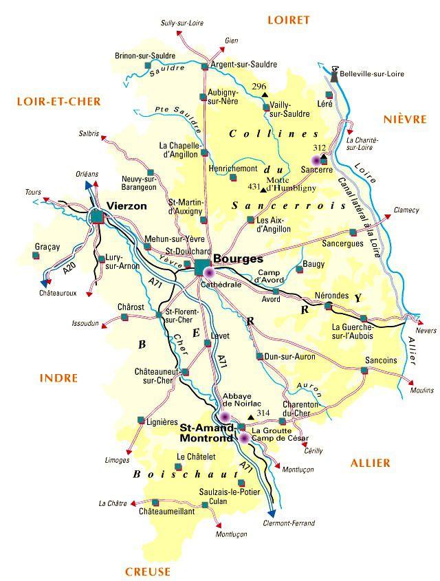 Carte du Cher - Politique