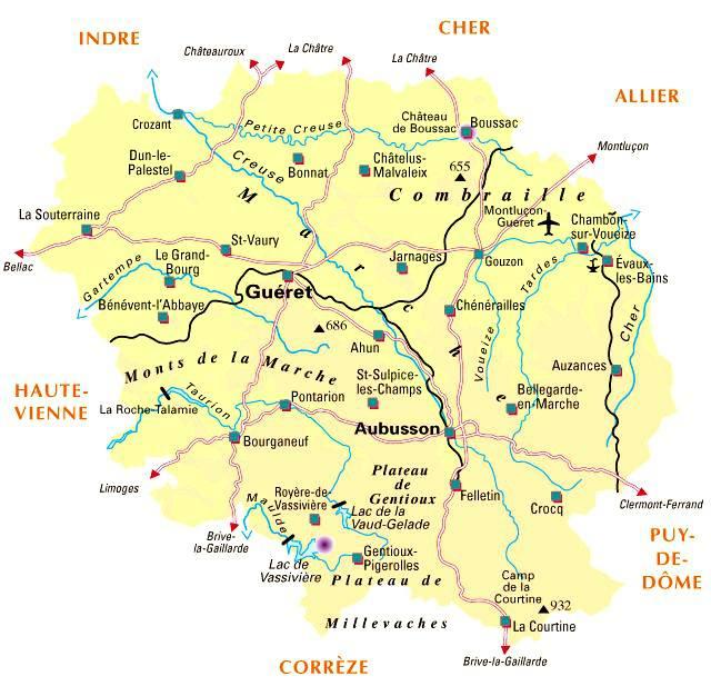 Carte de la Creuse - Politique