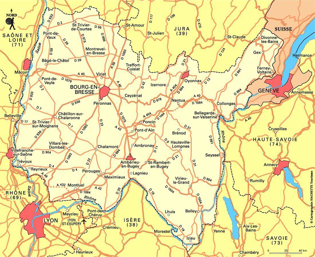 Carte Routiere De L Ain Détaillée My Blog