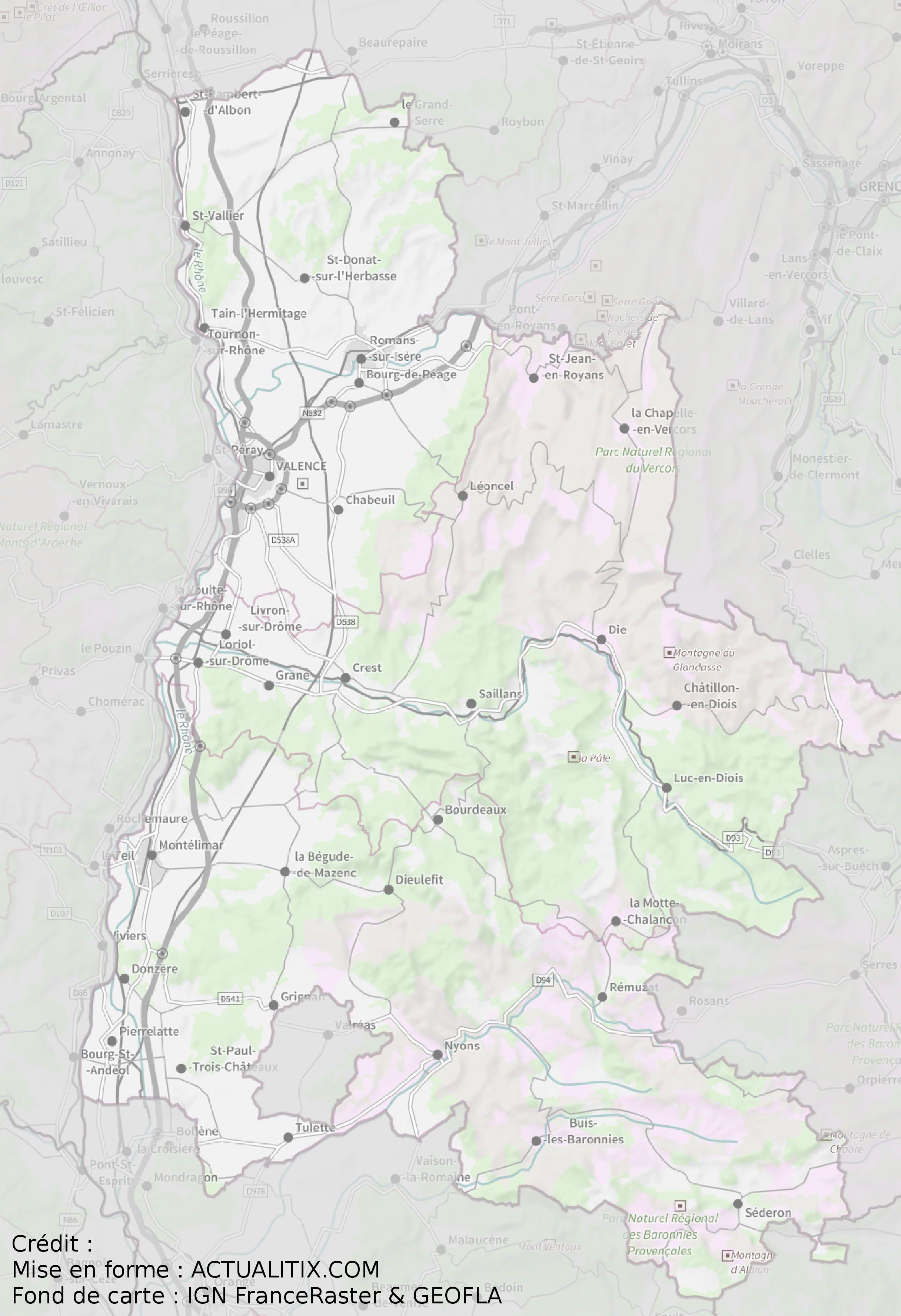 Carte De La Drôme Drôme Carte Du Département 26 Villes